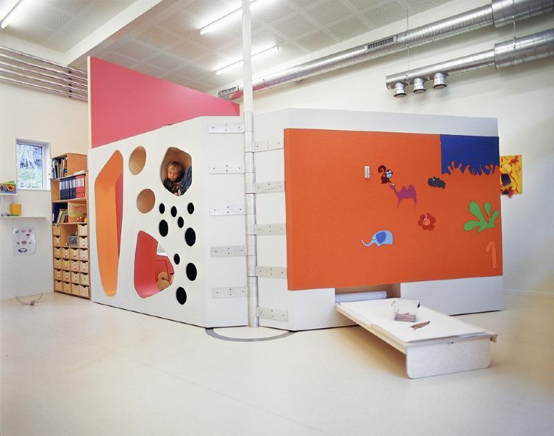Children study furniture
